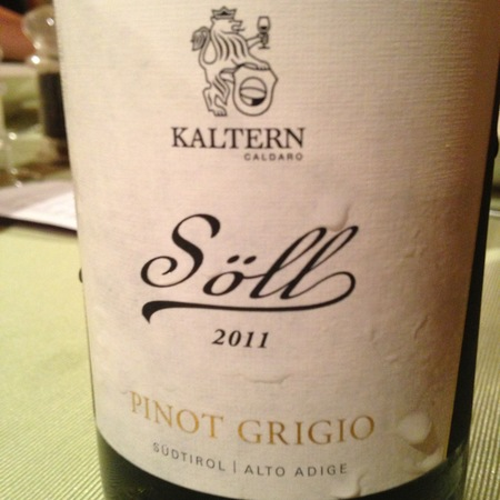 Kellerei Kaltern (Kaltern-Caldaro) Soll Pinot Grigio 2015 (750ml 12bottle)
