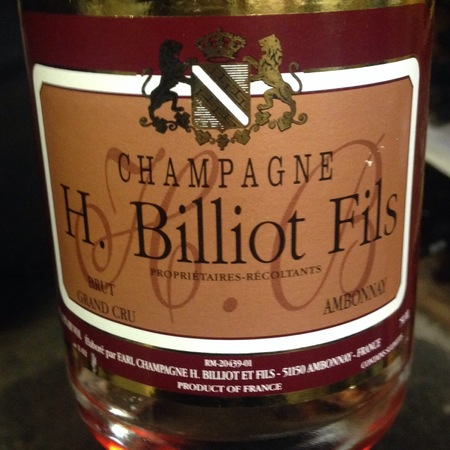 H. Billiot Fils Brut Rosé Grand Cru Champagne Blend NV