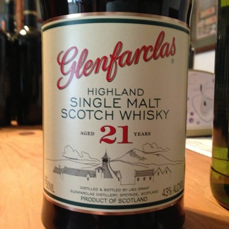 Glenfarclas 21 Years Old Highland Single Malt Scotch Whiskey NV
