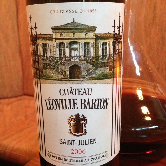 Château Léoville Barton Saint-Julien Red Bordeaux Blend 2006