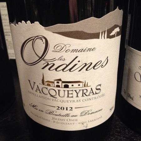 Domaine Les Ondines Vacqueyras Grenache Blend 2015
