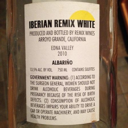 Remix Wines Iberian Remix Albariño 2015