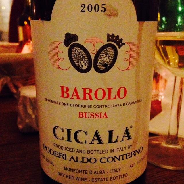 Poderi Aldo Conterno Bussia Cicala Barolo Nebbiolo 2005