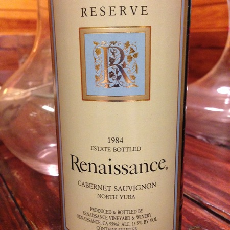 Renaissance Vineyard & Winery Reserve Estate Bottled Cabernet Sauvignon 2001