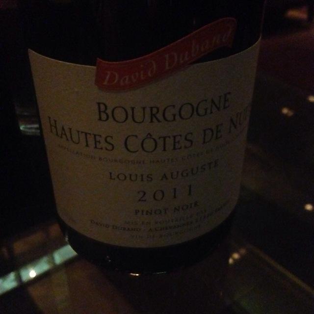 Louis Auguste Bourgogne Hautes Côtes de Nuits Pinot Noir 2011