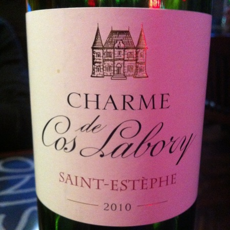 Château Cos Labory St. Estèphe Red Bordeaux Blend 2010