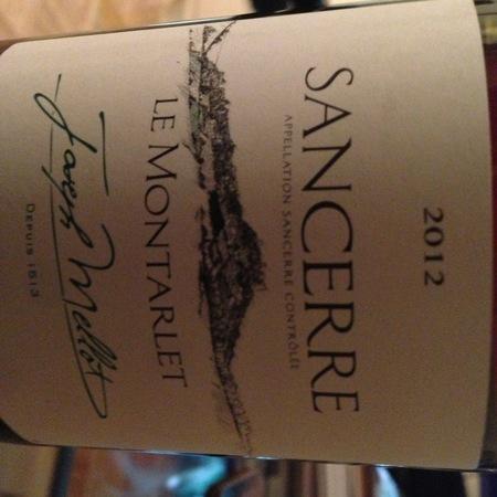 Joseph Mellot  Le Montarlet Sancerre Sauvignon Blanc 2012 (375ml)