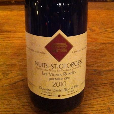 Domaine Daniel Rion et Fils Les Vignes Rondes Nuits St. Georges 1er Cru Pinot Noir 2010