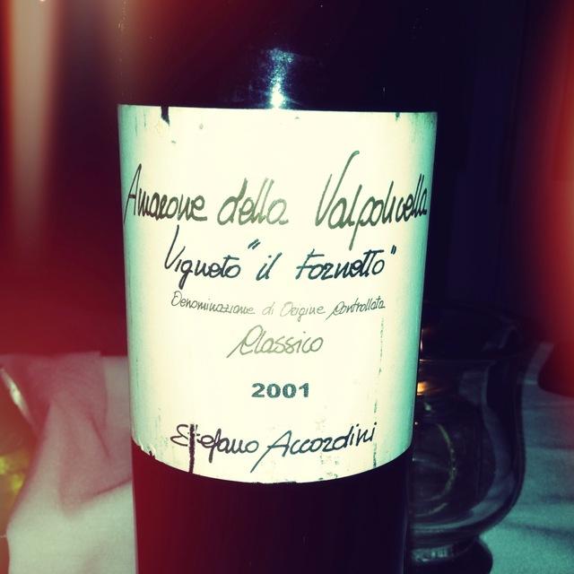 """Stefano Accordini Vigneto """"Il Fornetto"""" Amarone della Valpolicella Classico Corvina Blend 2010"""