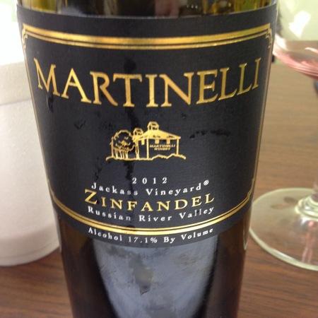 Martinelli Jackass Vineyard Zinfandel 2001