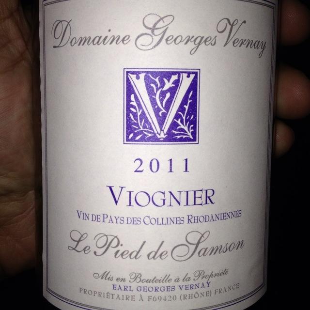 Domaine Georges Vernay Le Pied de Samson Vin de Pays des Collines Rhodaniennes Viognier 2015