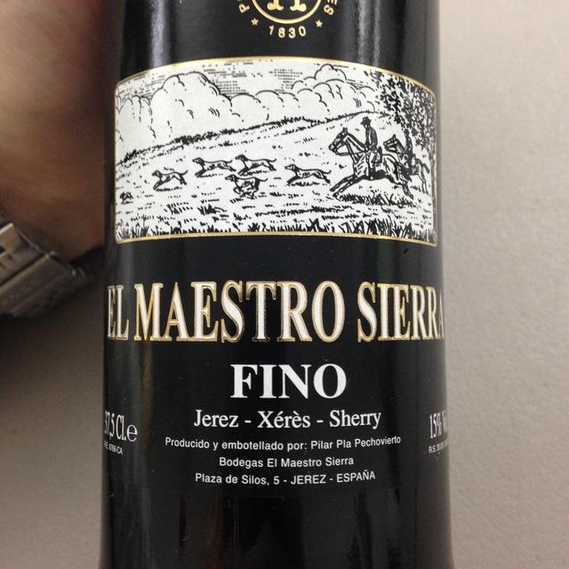 Fino Jerez-Xérès-Sherry Palomino Fino NV (375ml)