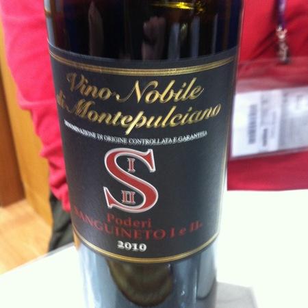 Poderi Sanguineto I e II Vino Nobile di Montepulciano Sangiovese 2013