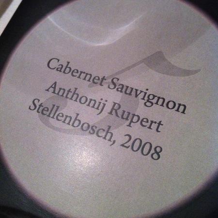 Anthonij Rupert Cabernet Sauvignon 2008