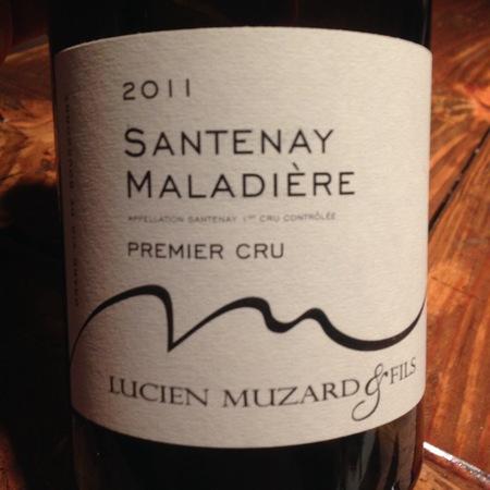 Lucien Muzard Maladiere Santenay 1er Cru Pinot Noir 2014