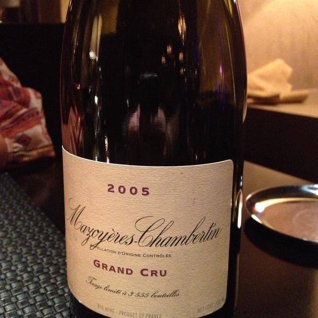 Mazoyères-Chambertin Grand Cru Pinot Noir 2006
