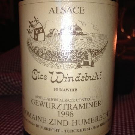 Domaine Zind Humbrecht Clos Windsbuhl Pinot Gris 1998