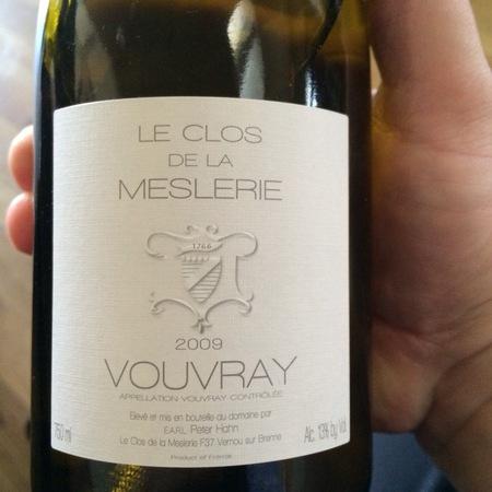 EARL Peter Hahn Le Clos de la Meslerie Vouvray Chenin Blanc 2013