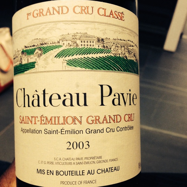 Château Pavie Saint-Èmilion Grand Cru Red Bordeaux Blend 2003