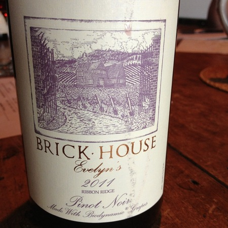 Brick House Evelyn's Ribbon Ridge Pinot Noir 2011