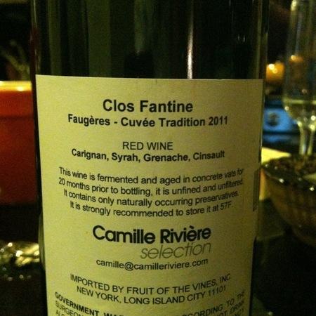 Clos Fantine Cuvée Tradition Faugères Carignan Blend 2015