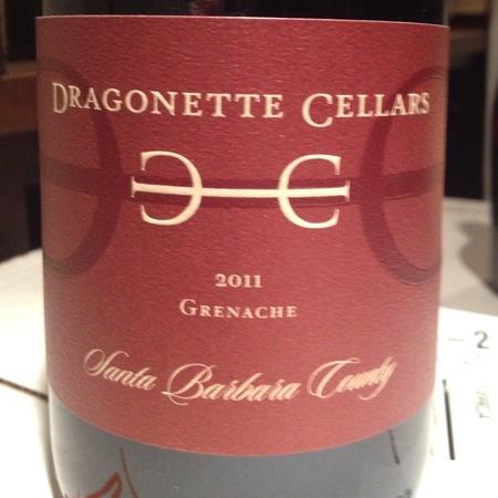 Dragonette Cellars Santa Barbara County Grenache 2012