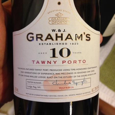 W. & J. Graham's Aged 10 Years Tawny Port Blend NV