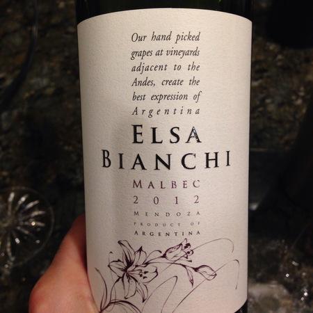 Valentin Bianchi Elsa Bianchi Mendoza Malbec 2016