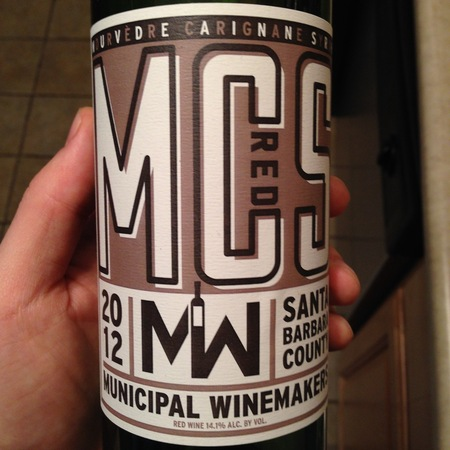 Municipal Winemakers MCS Red Blend 2014