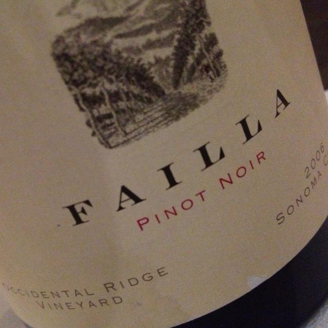 Failla Occidental Ridge Vineyard Pinot Noir 2014