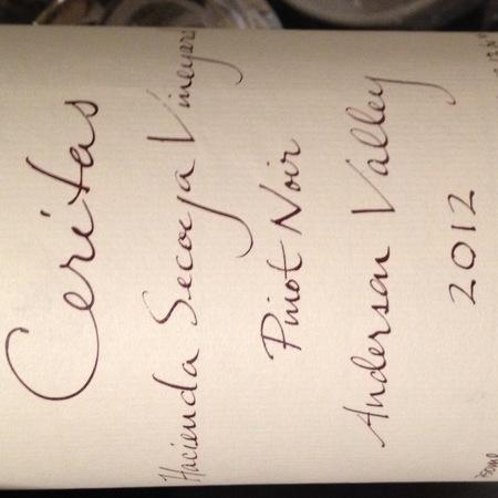Ceritas Hacienda Secoya Vineyard Pinot Noir 2012