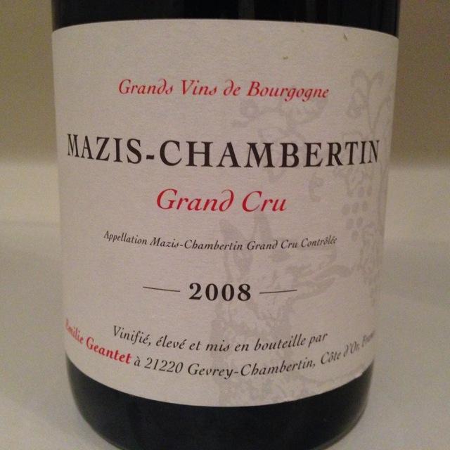 Mazis-Chambertin Grand Cru Pinot Noir 2005