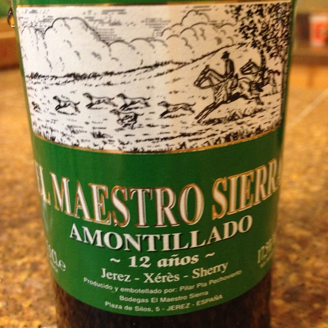 El Maestro Sierra 12 Años Amontillado Jerez-Xérès-Sherry Palomino Fino NV (375ml)