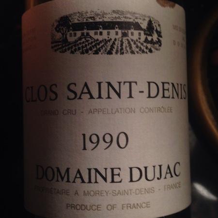 Domaine Dujac Clos Saint-Denis Grand Cru Pinot Noir 1990