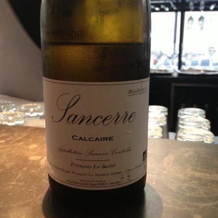 Francois Le Saint Calcaire Sancerre Sauvignon Blanc 2015