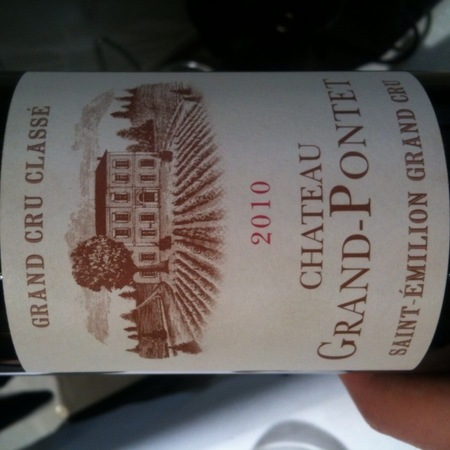 Château Grand-Pontet Saint-Émilion Red Bordeaux Blend 2010