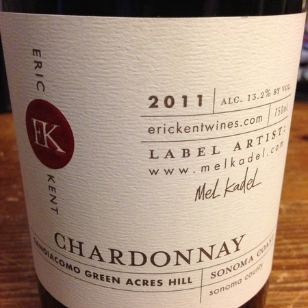 Eric Kent Wine Cellars Sangiacomo Green Acres Hill Chardonnay 2014