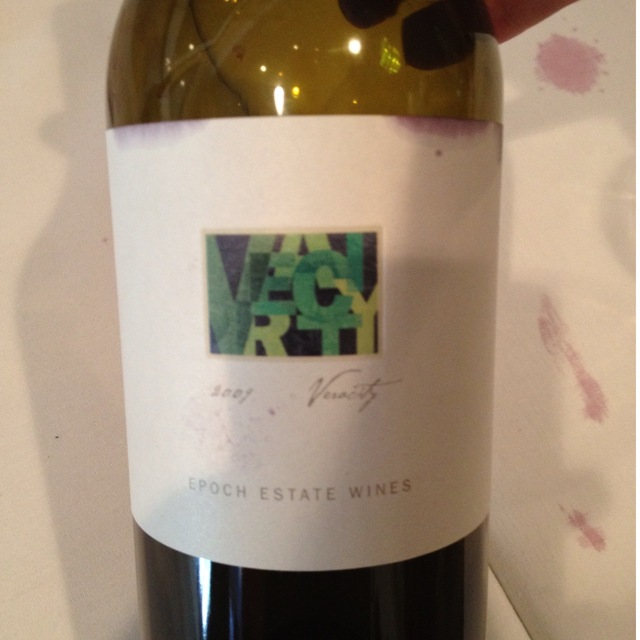 Epoch Estate Wines Veracity Red Rhone Blend 2013