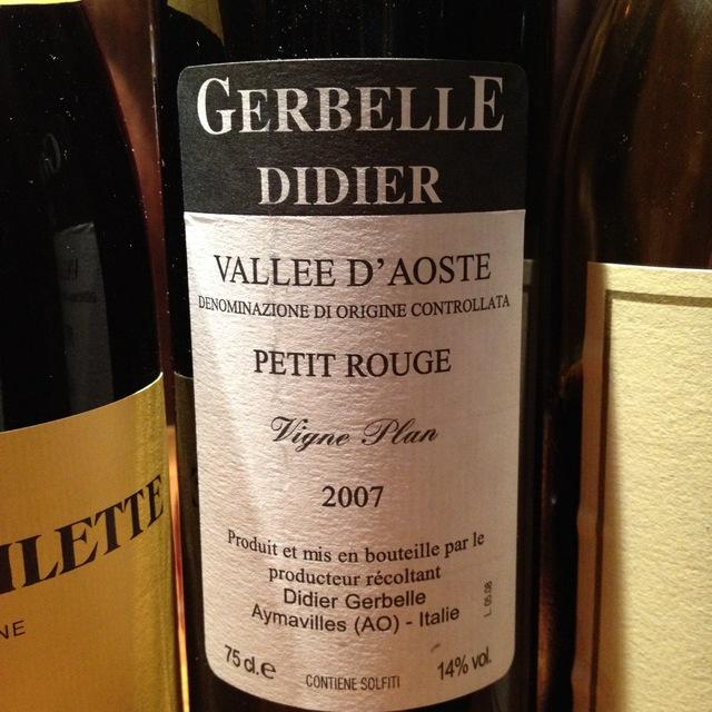 Gerbelle Didier Vigne Plan Valle d'Aosta Petit Rouge 2014