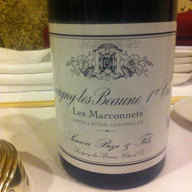 Les Marconnets Savigny-lès-Beaune 1er Cru Pinot Noir 2013
