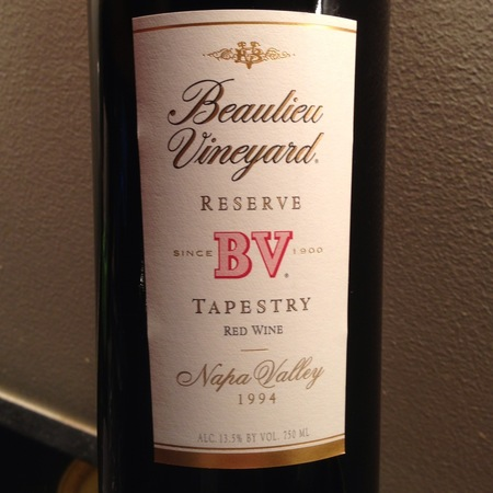 Beaulieu Vineyard BV Tapestry Reserve Napa Valley Red Bordeaux Blend 1994