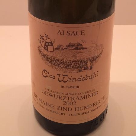 Domaine Zind Humbrecht Clos Windsbuhl Pinot Gris 2002