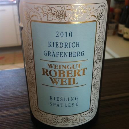 Weingut Robert Weil Kiedrich Gräfenberg Spätlese Riesling 2010