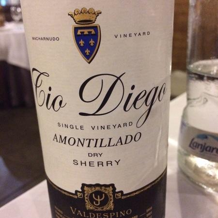 Valdespino Tio Diego Macharnudo Vineyard Amontillado Jerez-Xérès-Sherry Palomino Fino NV