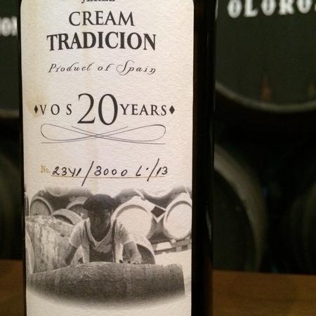 Bodegas Tradición VOS 20 Year Old Cream Tradición Jerez-Xérès-Sherry Pedro Ximénez NV