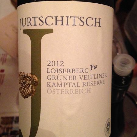 Jurtschitsch/Sonnhof Loiserberg  Grüner Veltliner Kamptal Reserve 2015