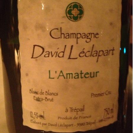 David Léclapart Cuvée l'Amateur Extra Brut Blanc de Blancs Premier Cru Chardonnay NV