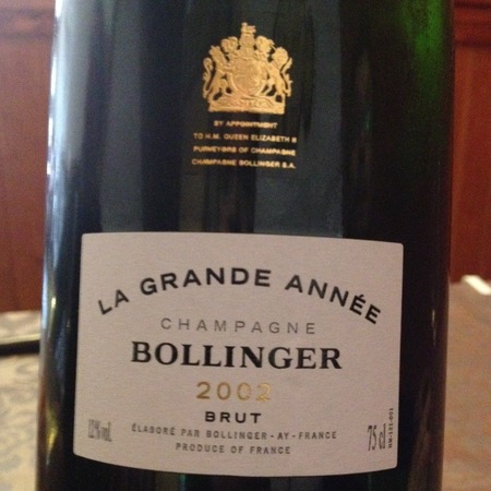 Bollinger La Grande Année Brut Champagne Blend 2007