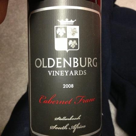 Oldenburg Vineyards Stellenbosch Cabernet Franc 2013