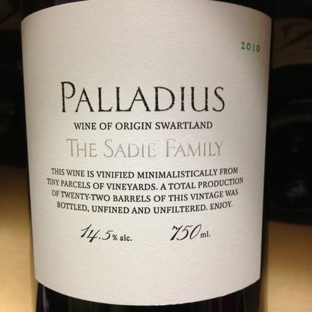 Sadie Family Palladius Swartland White Blend 2014